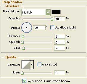 drop shadow