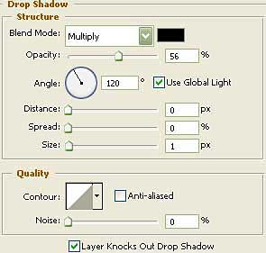 blending option, drop shadow