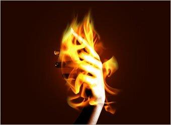 горящая рука