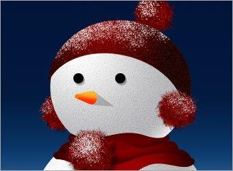 рисуем снег