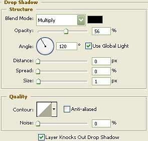blending option, drop shadow