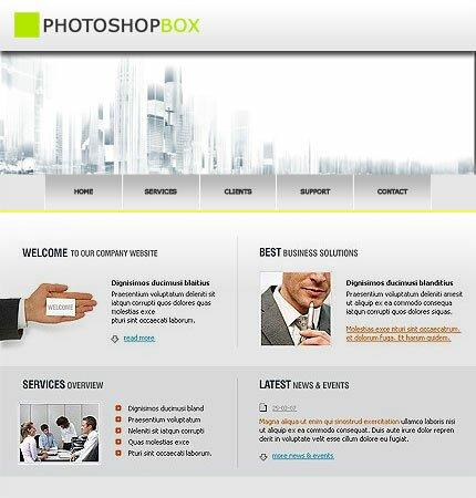 создаем шаблон сайта в деловом стиле