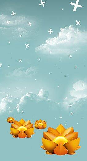 плакат с лилиями