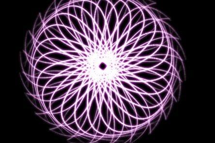 светящийся круг из линий