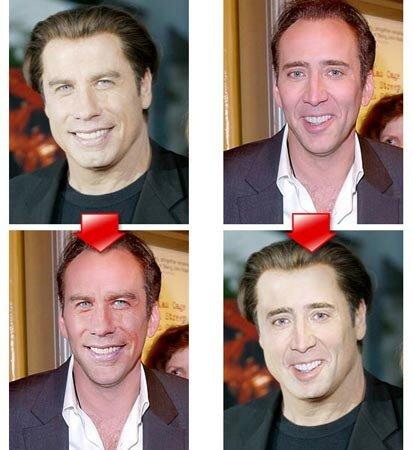 замена лица фотошоп