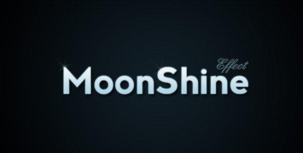 текст с эффектом лунного сияния в фотошо