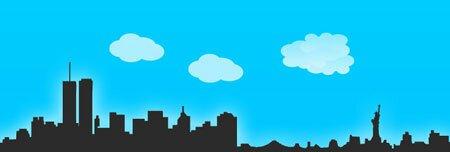 очертания города в фотошоп