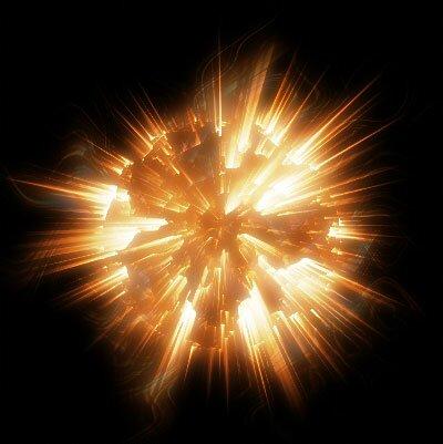 взрыв планеты в фотошоп