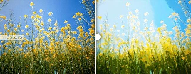 Уроки Photoshop Как из фотографии сделать акварельную картину