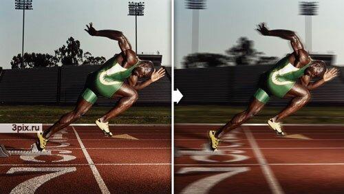 Уроки Фотошоп Добавляем движение в фотографиях