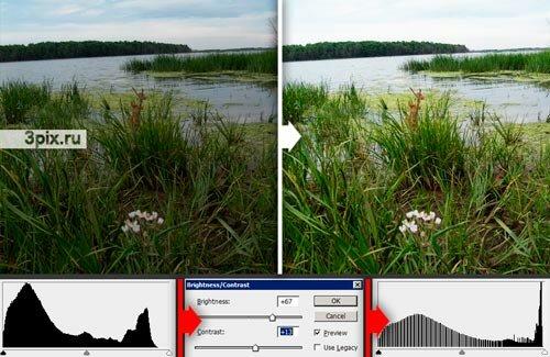 Уроки Photoshop - Автокоррекция фотографий - Яркость и контрастность