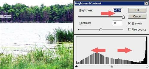 Уроки Photoshop - Яркость и контрастность фотографий - Brightness Contrast